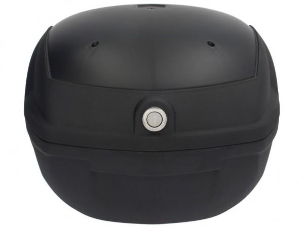 Top Case, schwarz, eingefärbt, 32 l, Rückenpolster schwarz