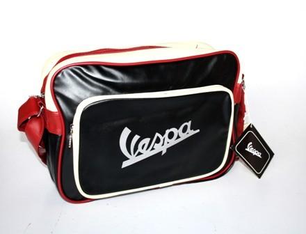Vespa Tasche, schwarz, rot