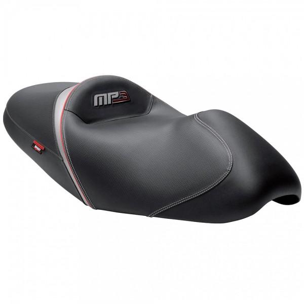 Komfort Sitzbank beheizt Piaggio MP3 schwarz-grau-rot