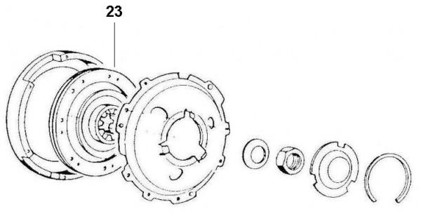 Motor Kupplung - Ape 422ccm 4T AC 1988- AFD4T