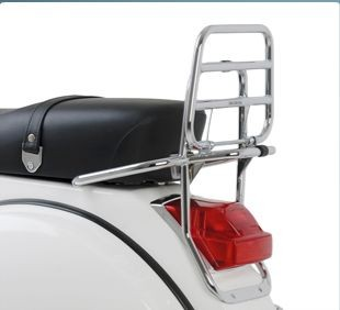 Original Heck Klapp Gepäckträger hinten aus Chrom für Vespa PX