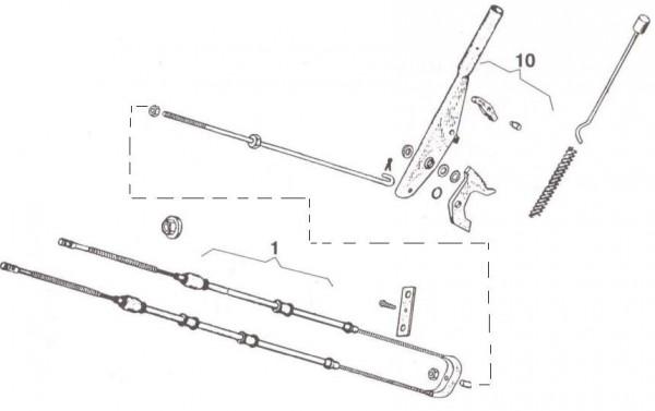 Bowdenzüge Handbremse - Ape 50ccm 2T AC 1969-1971 TL1T