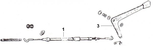 Bowdenzüge Rückwärtsgangzug - Ape 50ccm 2T AC 1969-1971 TL1T