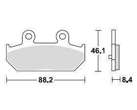 TRW Bremsbelagsatz, Sintermetall, mit ABE, MCB751SRM