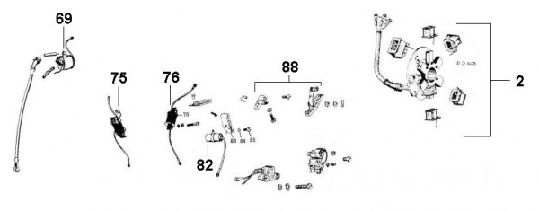 Motor Lichtmaschine - Ape 50ccm 2T AC 1969-1971 TL1T