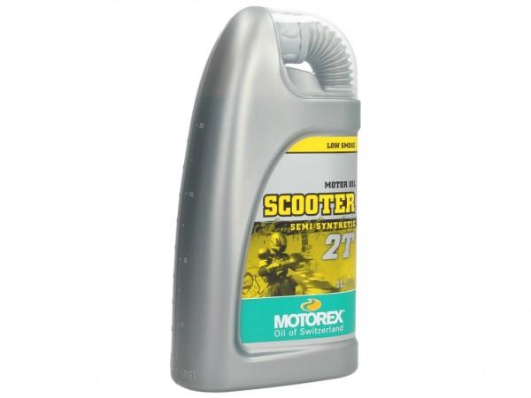 Motorex Motoröl 2 Takt, Scooter 2T Syntethic Performance, teilsynthetisch, 1 l
