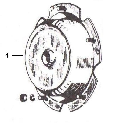 Radaufhängung Bremstrommel hinten - Ape 50ccm 2T AC 1969-1971 TL1T
