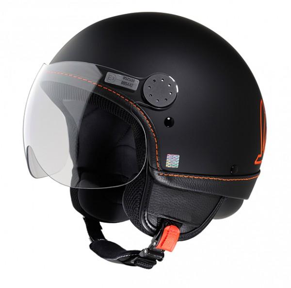 Vespa Helm Primavera - schwarz/orange