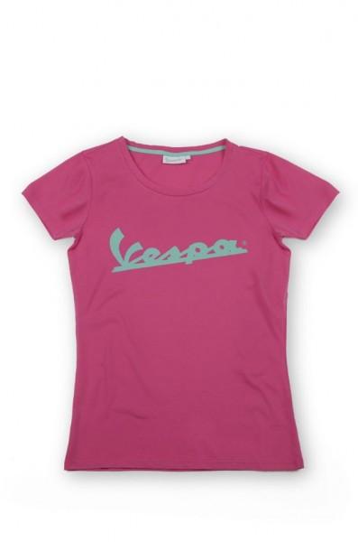 Vespa Vespa Colors, T-Shirt, Vespa Logo, Damen, Größe: XL, rosa, Baumwolle