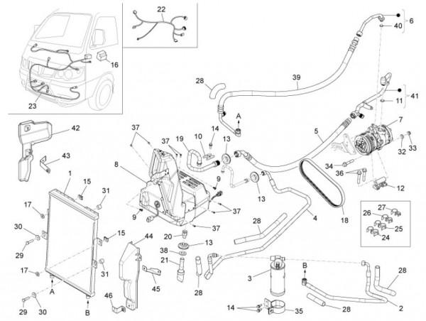 Fahrgestell Kühlanlage - Porter Maxxi D120 Diesel 1200ccm 4T LC 2011- ZAPS90DK