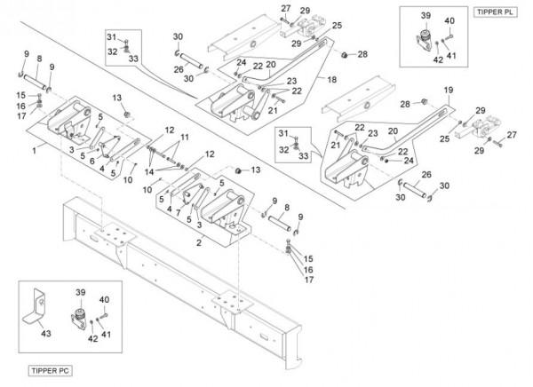 Fahrgestell Ladefläche - Porter Maxxi D120 Diesel 1200ccm 4T LC 2011- ZAPS90DK
