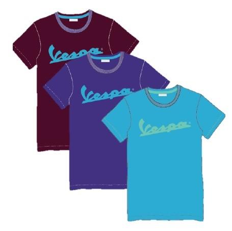 Vespa Vespa Colors, T-Shirt, Vespa Logo, Herren, Größe: L, bordeaux, Baumwolle